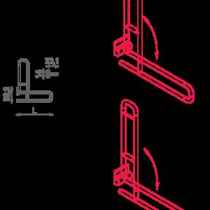 SHS – N32.110-115 – Maniglione Di Sostegno Ribaltabile