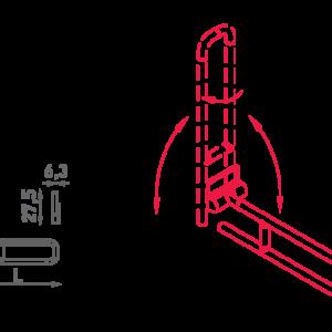 SHS – N32.120-122 – Maniglione Di Sostegno Ribaltabile E Girevole