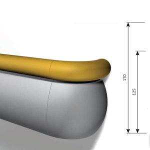 SHS – BH.170 – Corrimano Paracolpi
